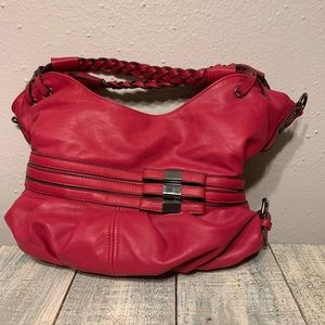 Handbags - Red Leather Carryall Satchel Purse